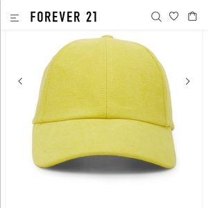 Yellow velveteen baseball cap 💫